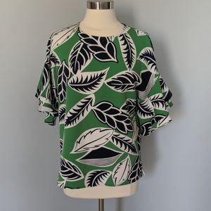 Jade Melody Tam Palm Leaves Blouse